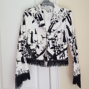 NWT Alberto Makali lace-trimmed jacket